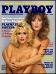 April 1985, Playboy cover image.