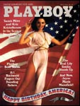 July 1976, Playboy cover image.